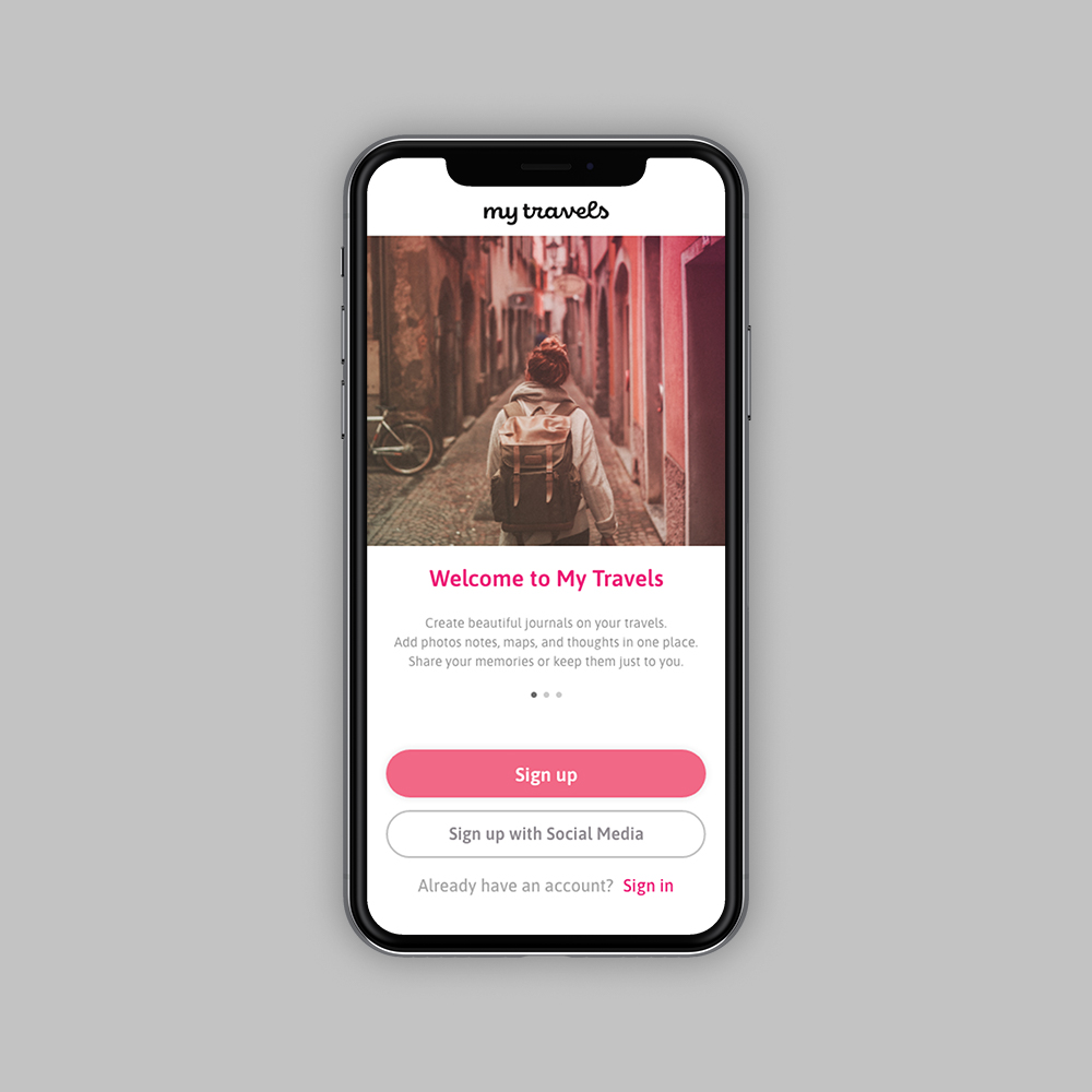 MyTravels App – UX/UI Design thumbnail